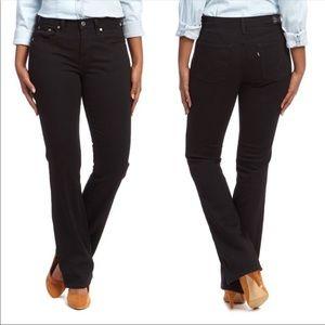 Levi's 515 bootcut high rise black jeans sz 30